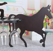close up of horse in carriage wood wine display