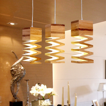 modern wood art droplights