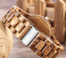 minimalist wood watch-backside view of clasp