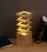use the modern wood art lighting for desk lamp