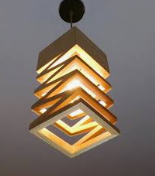 view from below modern wood art droplight