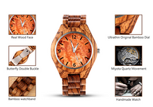 specifics for the quartz wood watch