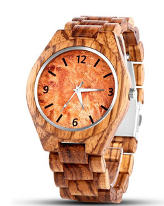 Wood quartz watch