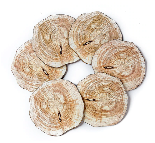 pretty unique natural wood coasters