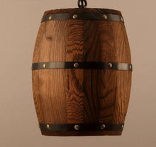 oak barrel lighting-detail