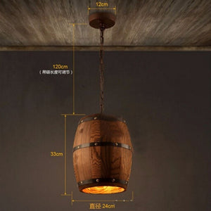 oak barrel lighting-hanging measurements