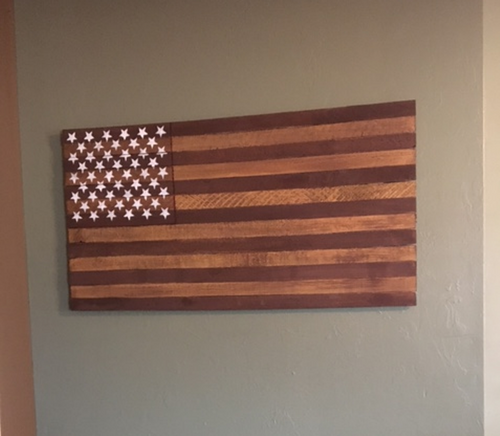 American Flag Wood Wall Art