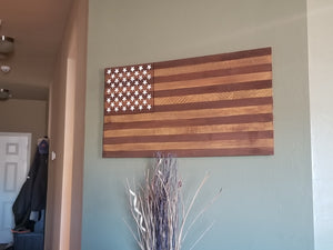 Old Glory Wood Flag