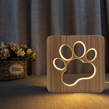 Wood Carved LED Night Lights