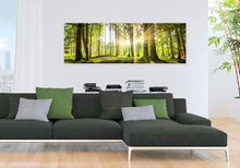 pine forest print-hanging over sofa
