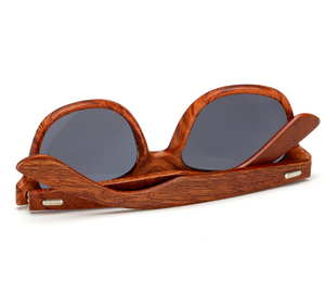 Walnut Wood Frame Sunglasses