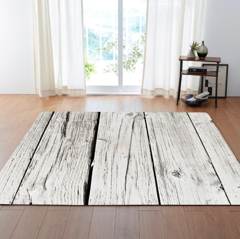 Whitewashed Board rug