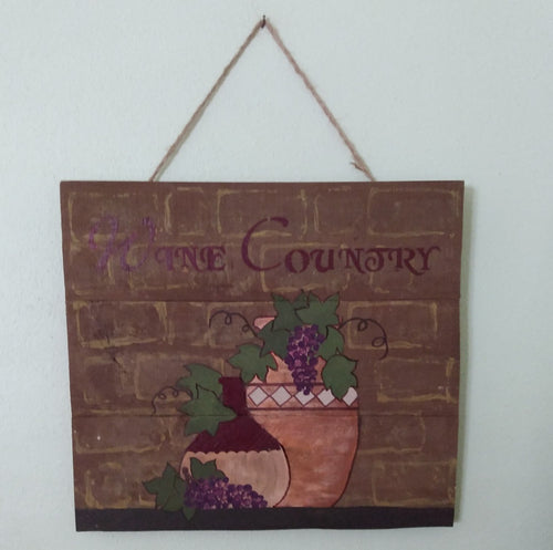 wine country wood sign hanging