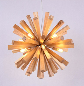 wood burst oak light