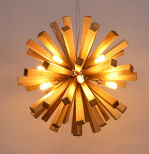 oak wood burst light lit up
