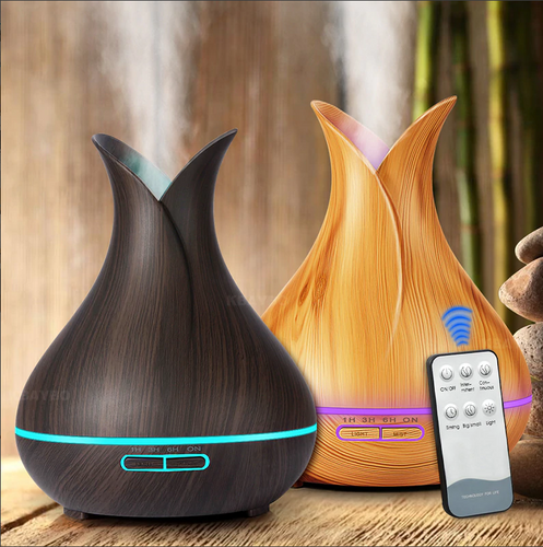 wood grain diffusers with remote