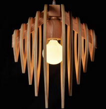 wood pendant light-side view