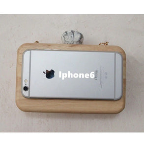 wooden clutch fits iphone 6