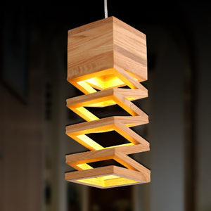 modern wood art droplight giving light