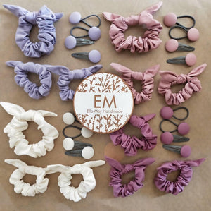 Scrunchie hair tie set