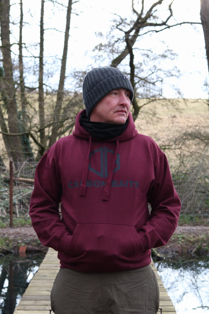 Carbon baits Burgundy Stash Hoody