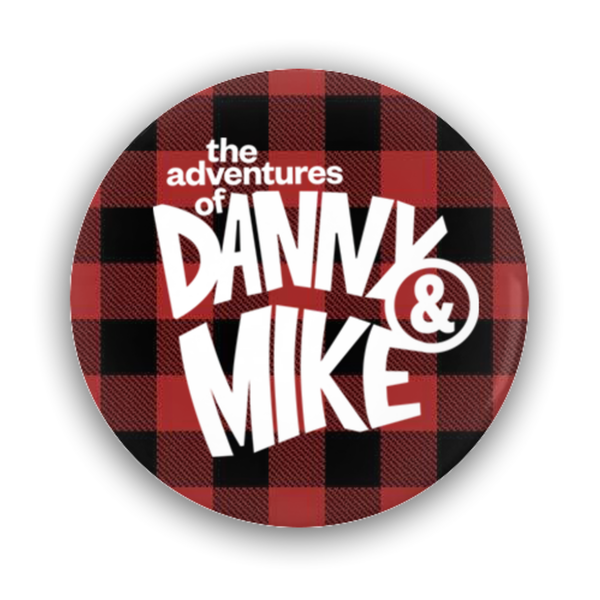 Danny and Mike - Plaid Button