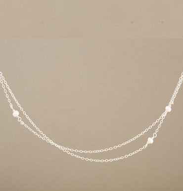 Armitage Two Strand Three Pearl Necklace