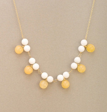 Astor Two-Tone Cluster Bib Necklace