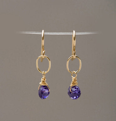 Madison Crystal and Link Earrings