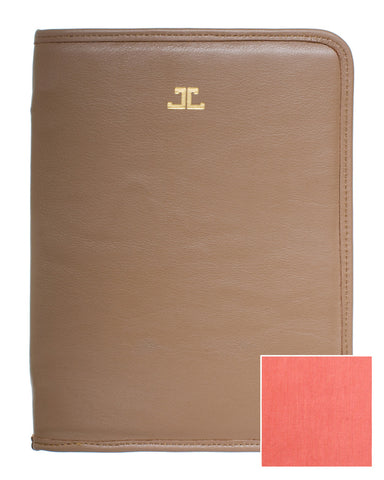 Quincy iPad Case, Cocoa + Coral