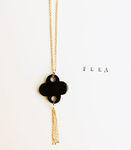 FLEA YSL Black Clover Necklace