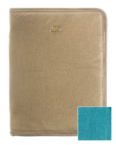 Quincy iPad Case, Gold + Aqua