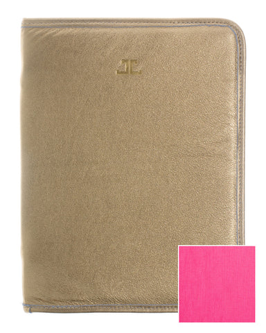 Quincy iPad Case, Gold + Fuchsia