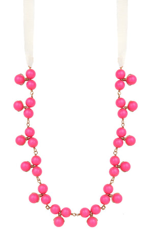 Jackson Neon Pink Bauble Necklace