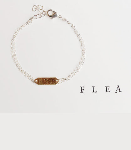 FLEA Brushed Tab Bracelet