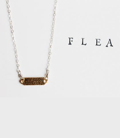 FLEA Brushed Tab Necklace