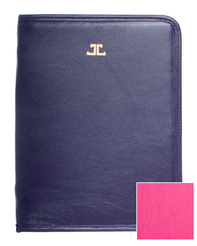 Quincy iPad Case, Eggplant + Fuchsia