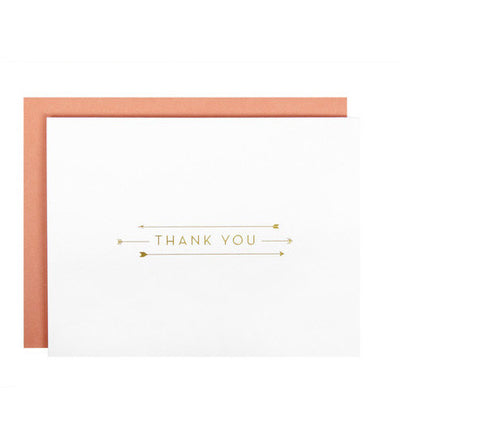 Webster Arrow Thank You, Note Card Set