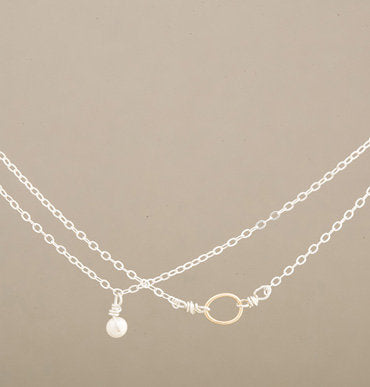 Armitage Two Strand with Pearl and Link Necklace