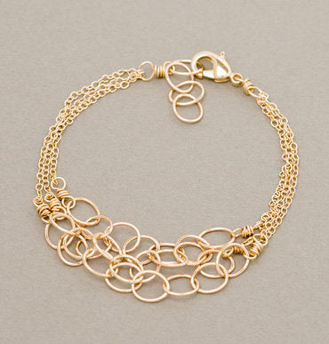 Armitage Three Strand Bracelet with Links