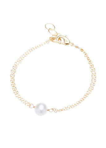 Ainslie Single Pearl Bracelet