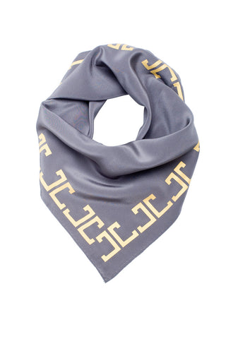 Belmont Square Scarf, Gray + Gold