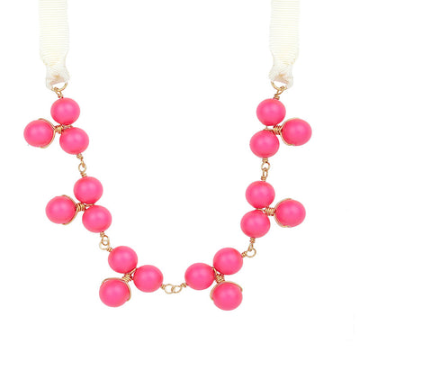 Jackson Mini Neon Pink Bauble Necklace