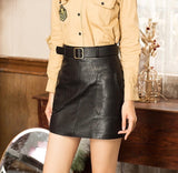 """Let's Play""Black Leather Skirt"
