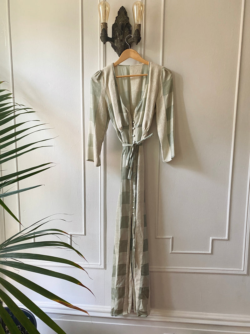 Kiera Dress in Sage Silk - Taiyo.us