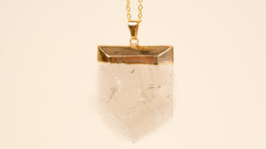Smoky Quartz Shield Necklace