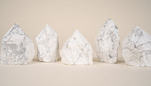 Howlite - Polished Crystal Point