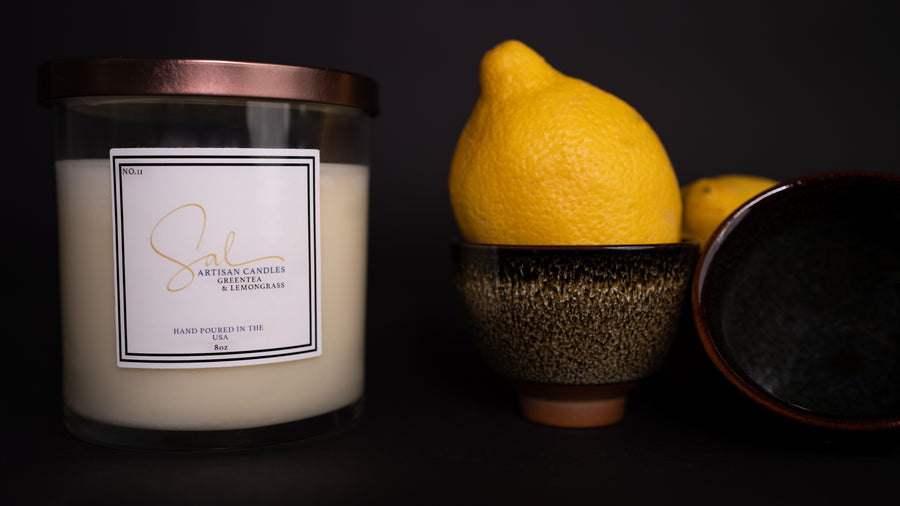 Green Tea and Lemongrass - Artisan Candles by Sal