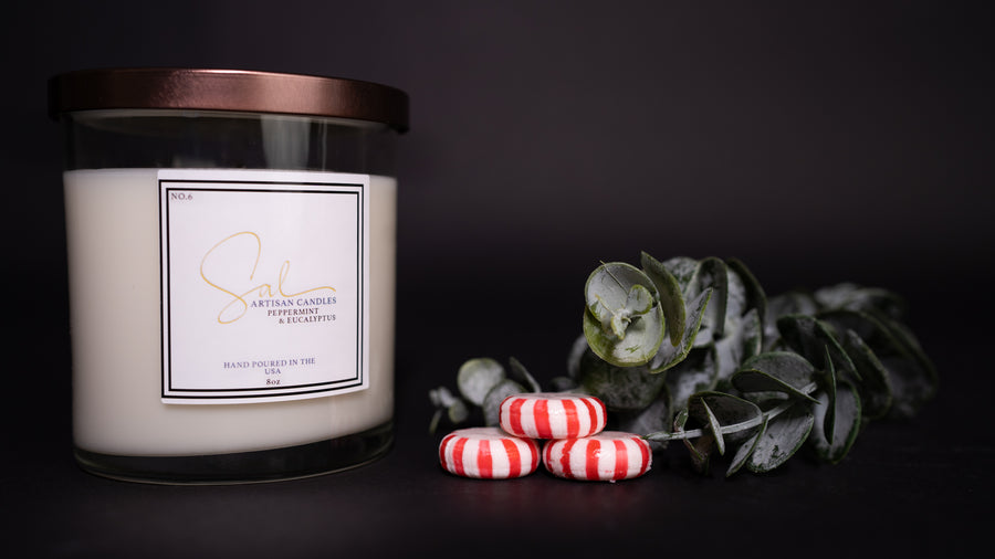 Peppermint & Eucalyptus - Artisan Candles by Sal