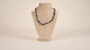 Hematite, Blackstone, Quartz Necklace